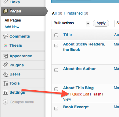 wordpress, quick edit, remove comment box