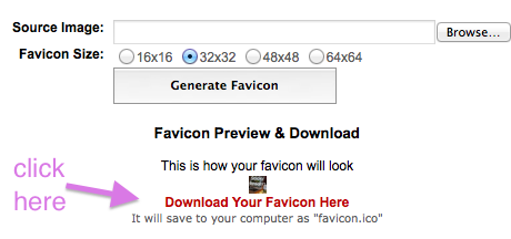 favicon, how to make favicon