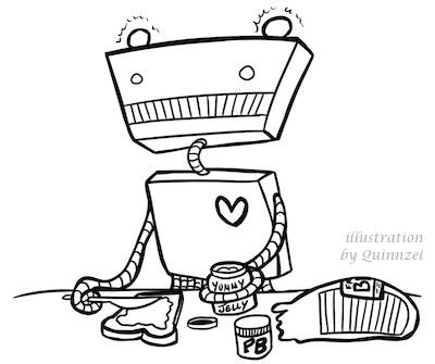blogville robot pbj quinnzel 400w credit