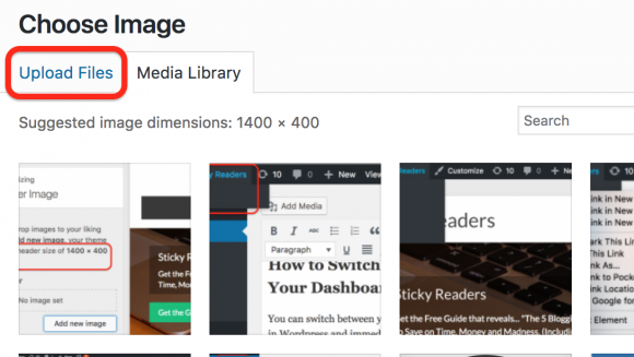 blogging, wordpress choose image
