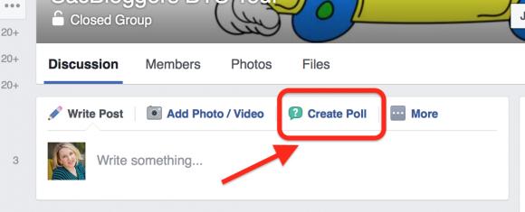 facebook create polls