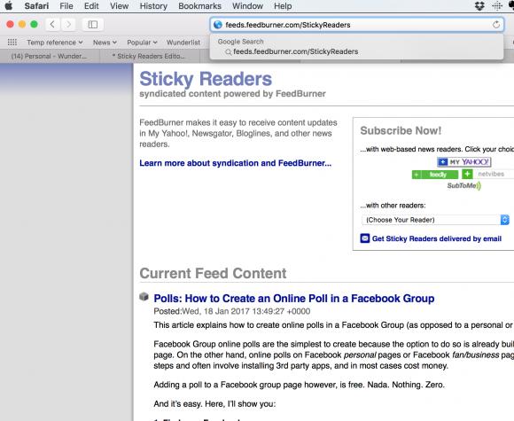 blog feed url